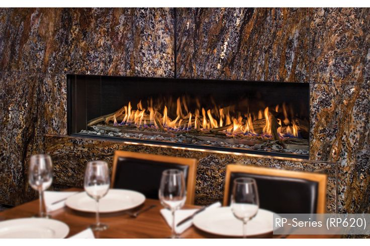 This is a beautiful linear fireplace by Montigo.  Add a dramatic statement to any room in your home.