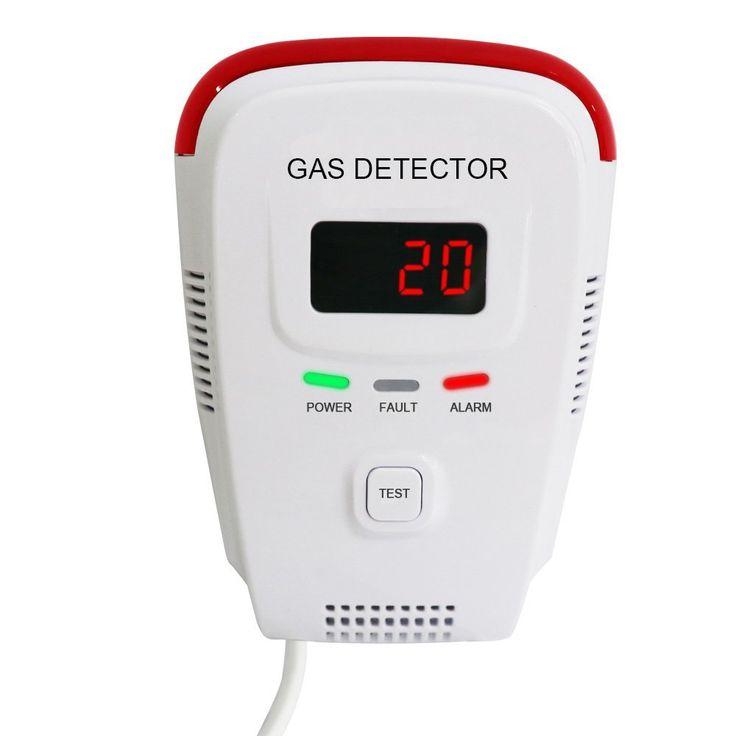 Voice Warning and Digital Display Plug-In Combustible Natural Gas Detector alarm Portable LPG LNG Gas Leak Sensor Tester