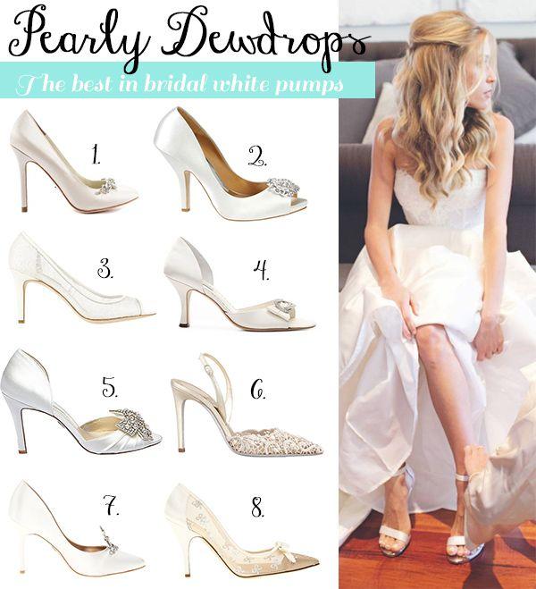 No Plain Jane - The season's prettiest bridal white shoes