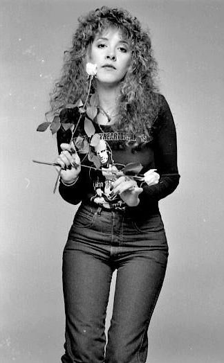 Stevie Nicks...I love that she has a Tom Petty shirt on