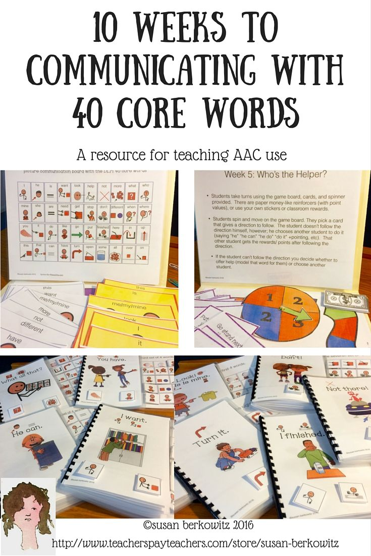 Use of core vocabulary words has been shown to provide AAC users with the vocabulary they need to serve most of their communication needs. The researchers whove developed the Developmental Learning Maps (DLM ) have identified a basic core of 40 words that are a beginning word set to meet the needs of emerging communicators. $