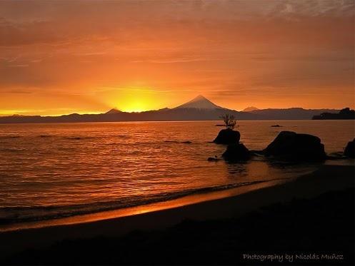 Lake Llanquihue and Osorno Volcano, Frutillar, Chile