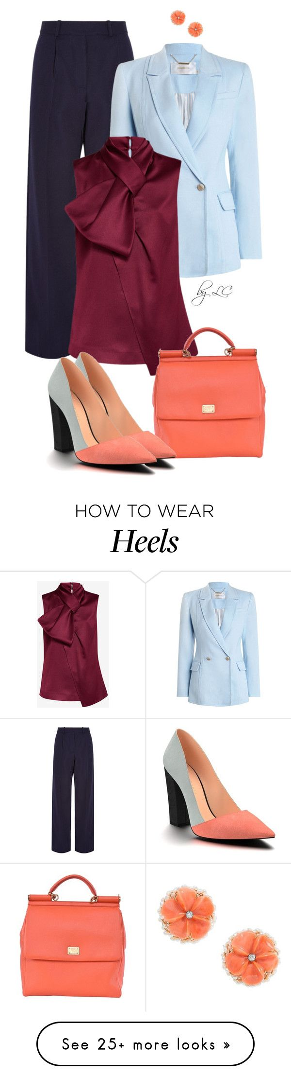 """""""Untitled #450"""" by explorer-14541556185 on Polyvore featuring Victoria Beckham, Zimmermann, Ted Baker, Dolce&Gabbana and Shoes of Prey"""