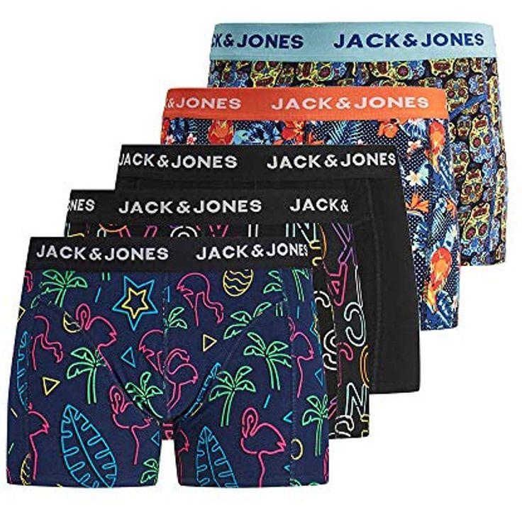 JACK JONES Herren 5er Pack Boxershorts Unterwäsche #Bekleidung #Damen #Kleider …