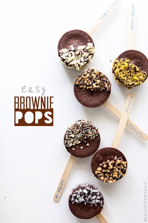 Easy Brownie Pop Recipe @realfoodbydad