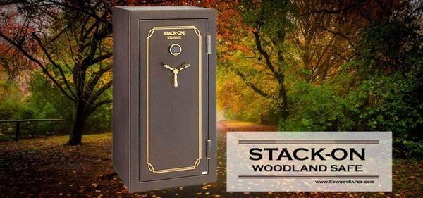 Stack-On Woodland Gun Safe 40-Gun Fire Resistant Back-Lit Electronic Lock Safe