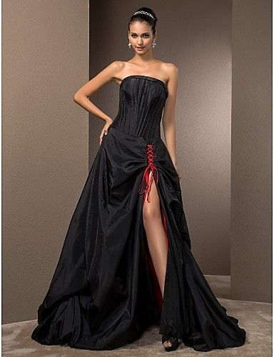 234 best black wedding dresses weddings images on pinterest for Black gothic wedding dress