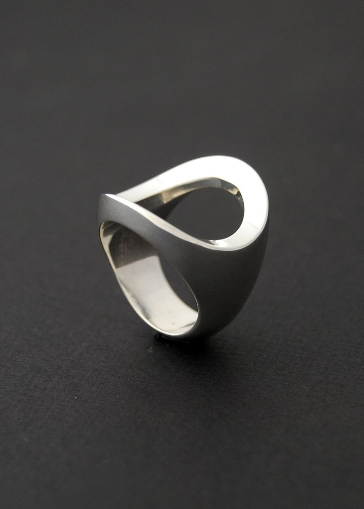 Trifecta Ring Cast sterling silver ring by LucieVeilleux on Etsy