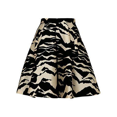 Buy Whistles Mystic Mountain Print Skater Skirt, Multi Online at johnlewis.com