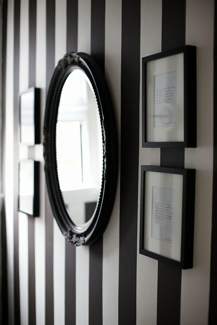 Papier peint rayures noires et blanches kitchen - Papier peint rayures grises et blanches ...