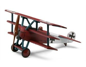 The Fokker DR1, of which a total of 320 were built, was a tri-plane fighter aircraft manufactured by Fokker-Flugzeugwerke for the German Empire's air force 'Luftstreitkräfte'. The DR1 was made famous by German fighter ace Manfred von Richthofen, the 'Red Baron', as the aircraft in which he claimed his final 19 victories.