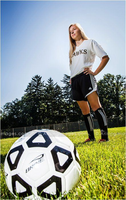 Cool soccer senior pictures in Rochester, Michigan. ArisingSeniors.com