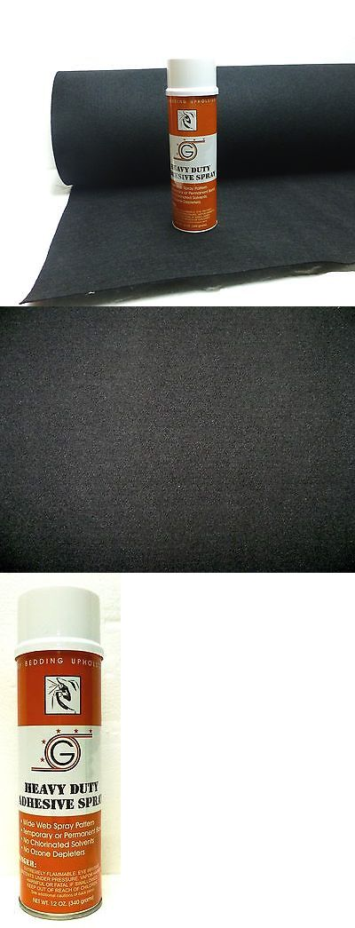 Speaker Sub Grills and Accs: 4Ft X 15Ft Black Speaker Box Carpet + Spray Adhesive -> BUY IT NOW ONLY: $39.99 on eBay!