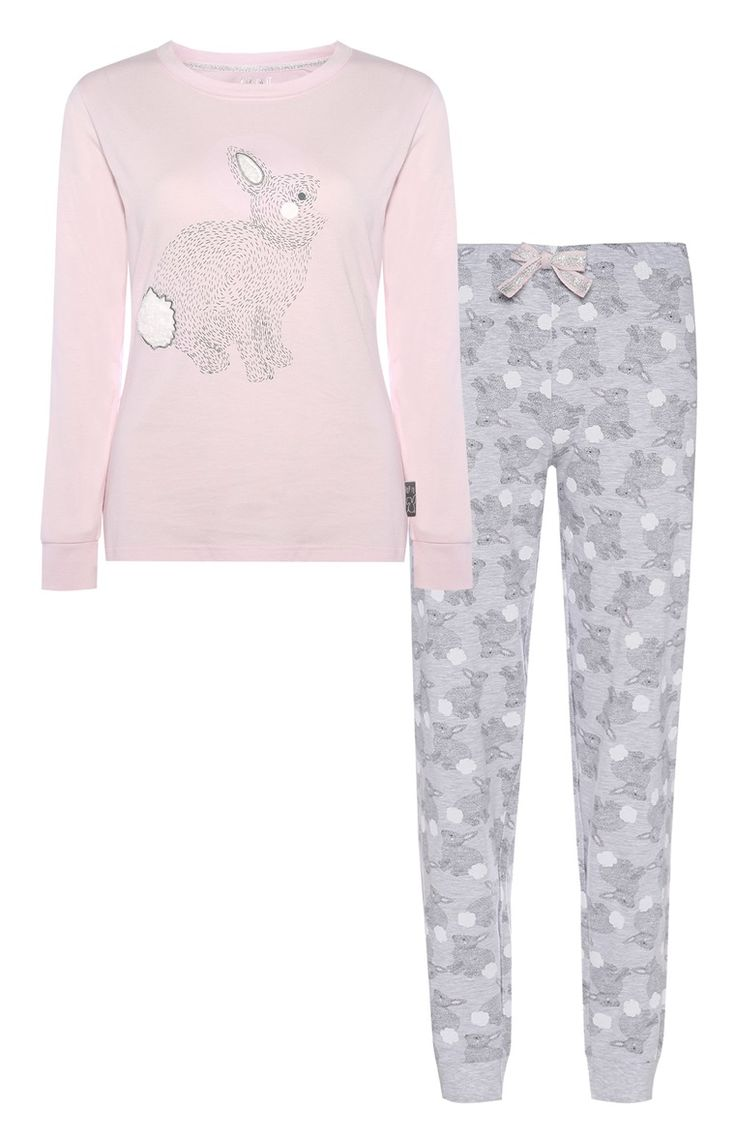 Primark - Pyjama à motif lapin rose