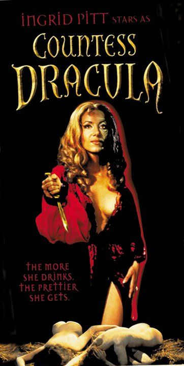 Ingrid Pitt in Countess Dracula from the early 1970's?!? GREAT campy fun! (via Classic Movies Digest)