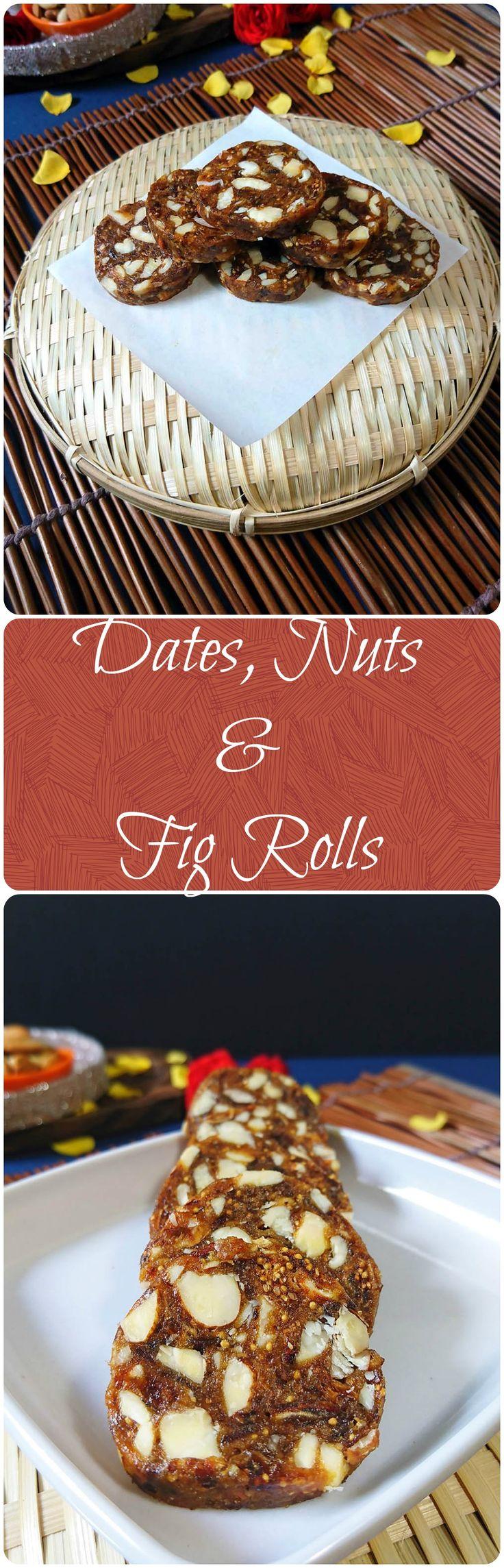 Dryfruit Khajoor Anjeer Rolls Recipe