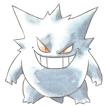 Pokemon Red and Blue Gengar