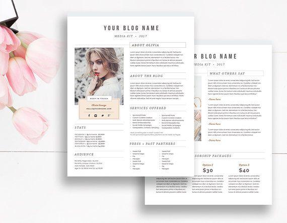 Professional Blogger Media Kit Template | Blogging | sponsored