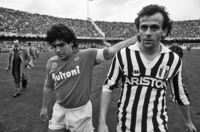 Maradona (Napoli) & Platini (Juventus)