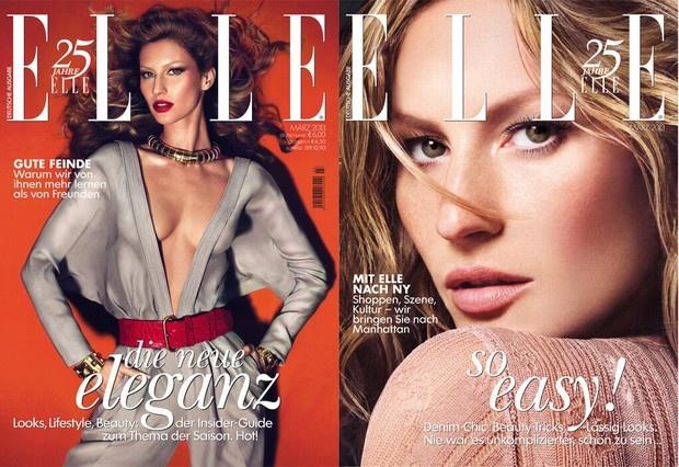 Model:Gisele    Magazine: German Elle March 2013