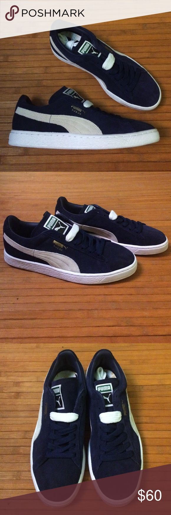 NWOB Navy Puma Suedes In great condition. Never been worn. No signs of visible damage. Puma Shoes Sneakers
