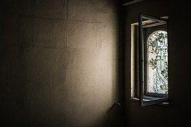 Okno, Stary, Opuszczony, Ivy, Porośnięte