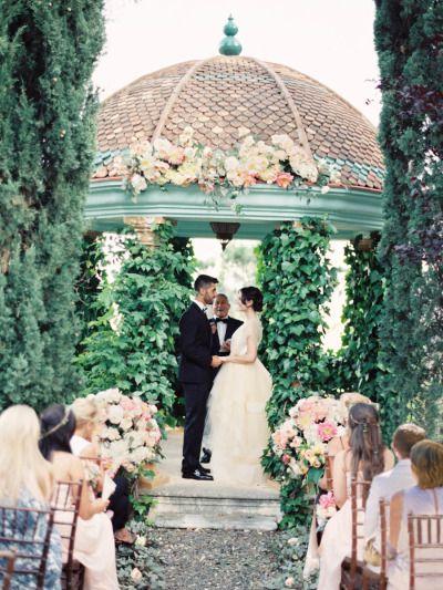 Garden wedding: http://www.stylemepretty.com/2014/10/07/glamorous-floral-wedding-in-marbella-spain/ | Photography: Sandoval Studios - http://www.sandovalstudios.com/