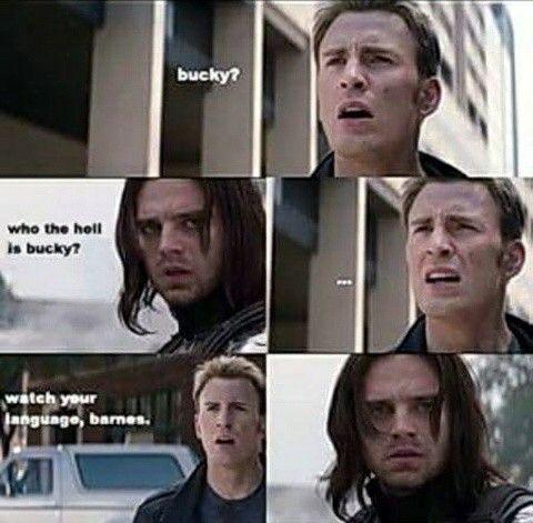 Bucky and Captain America