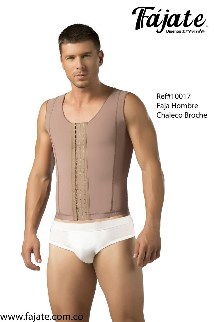 Para aquellos hombres que se han practicado algún tipo de cirugía de abdomen o pecho, ademas de ser funcional como corrector de postura sirviendo como uso diario !!! Ref #10017 Faja Hombre Chaleco Broche