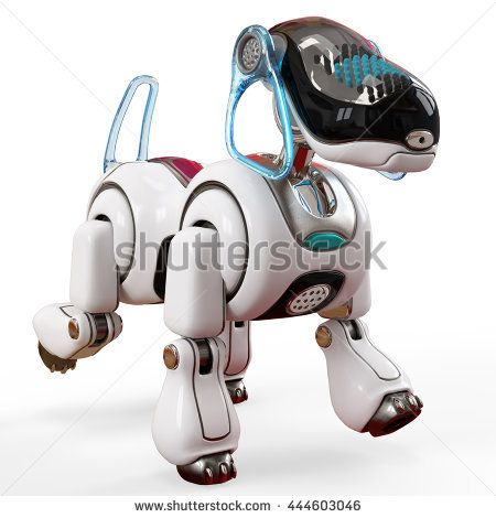 cyber dog 3d illustration