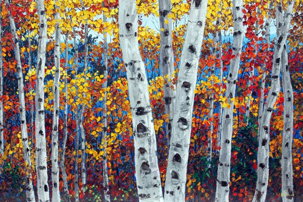 1000 ideas about birch tree art on pinterest forest - Leaves paintings and drawings ...