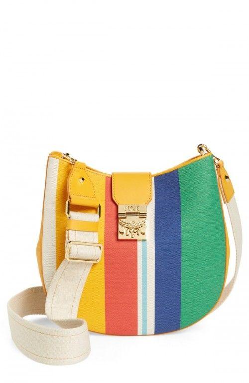 Mcm+Patricia+Canvas+Hobo+Bag+Yellow