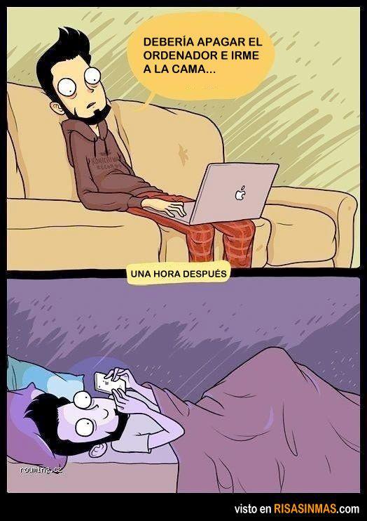 Debería apagar el ordenador e irme a la cama.
