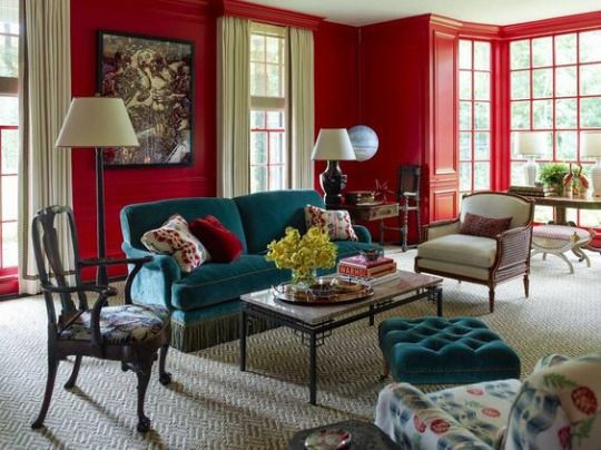 Living Room Decorating Ideas Red Walls 662 best color: red rooms i love images on pinterest | red rooms