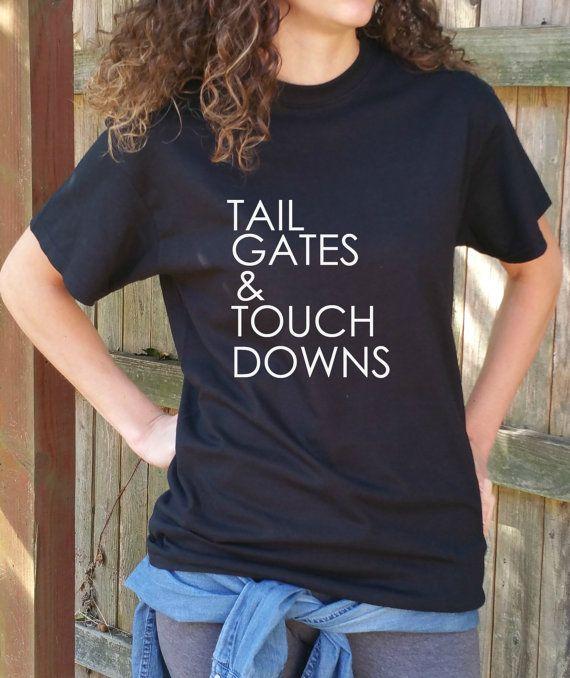 Women's Tailgates & Touch Downs Tee Shirt, Football Shirt, Sunday Funday, Sunday Funday Shirt, Women's Football Shirt