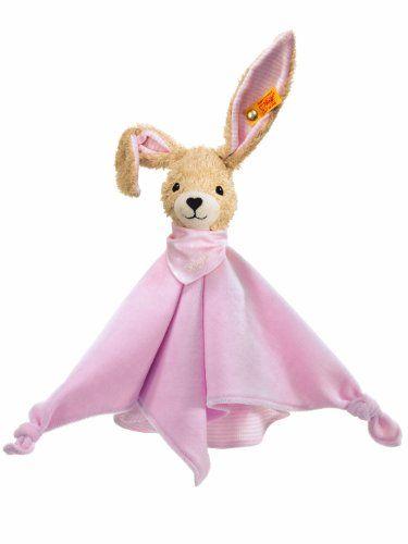 Baby: Steiff 237546 - Hoppel Hase Schmusetuch, rosa, 28 cm - Kaufen Neu: EUR 23,99 [Available In Germany]