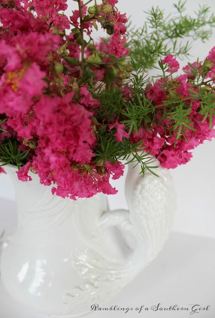 Ramblings of a Southern Girl: Crepe Myrtles - 5 Clever Ways to Display