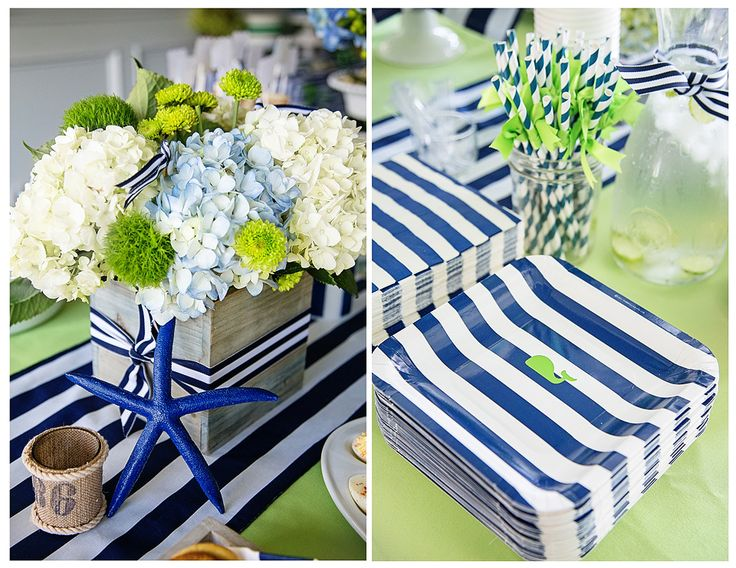 Project Nursery - A Preppy Whale 1st Birthday Party Accents
