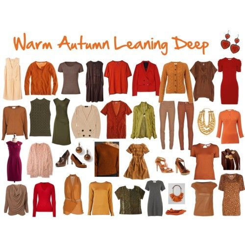 Warm Autumn Leaning Deep: Color Palette | deep autumn ...