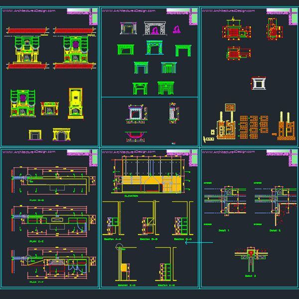 Fireplace Designs For Autocad Architecture For Design Fireplace Design Design Autocad