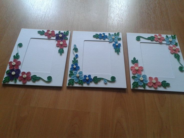 Simple quilled photo frames.