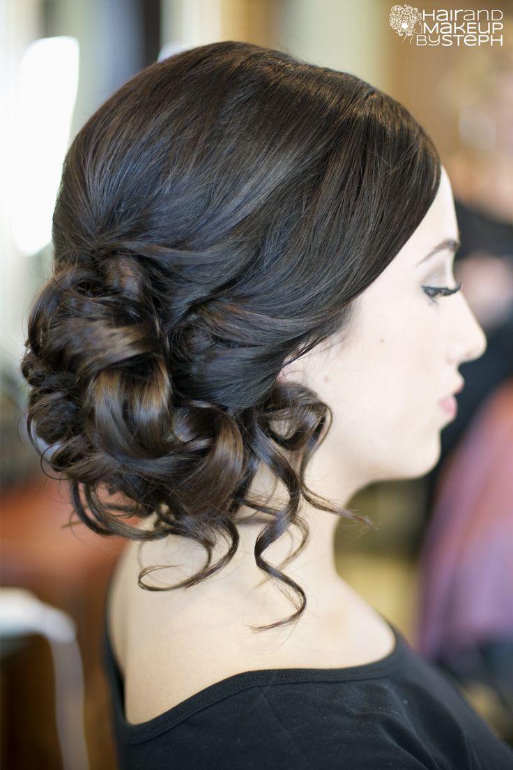 side updo via blog.hairandmakeupbysteph.com