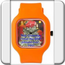"Wristwatch: ""This Christmas I have the BEST present ever: YOU!"" A very meaningful present! You cannot express better how much you cherish his or her love!   In six festive colors!      The loving confession This Christmas I have the BEST present ever: YOU!"" is also available in Spanish, French, Italian and German language!  Christmas,  wristwatch as gift, watch for Christmas, Ladie's watch for X-mas, Holy Night, Men's watch for Christmas eve, Watch for young lovers for X-mas"