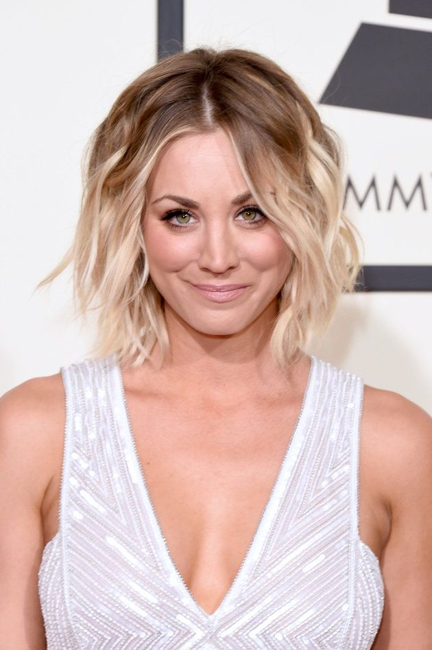 Kaley Cuoco Looks Glamorous In Sparkly Jumpsuit At The Grammys
