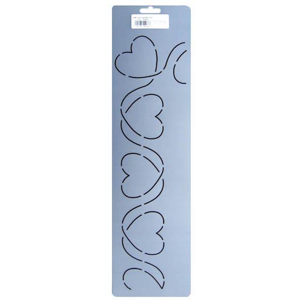 Heart Vine Border Quilting Designs Quilting Stencils