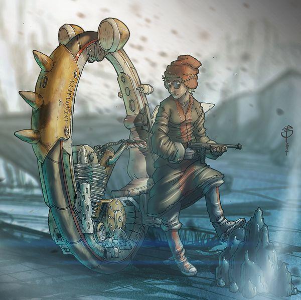 Monowheel Scout by LoperaCano, via Behance