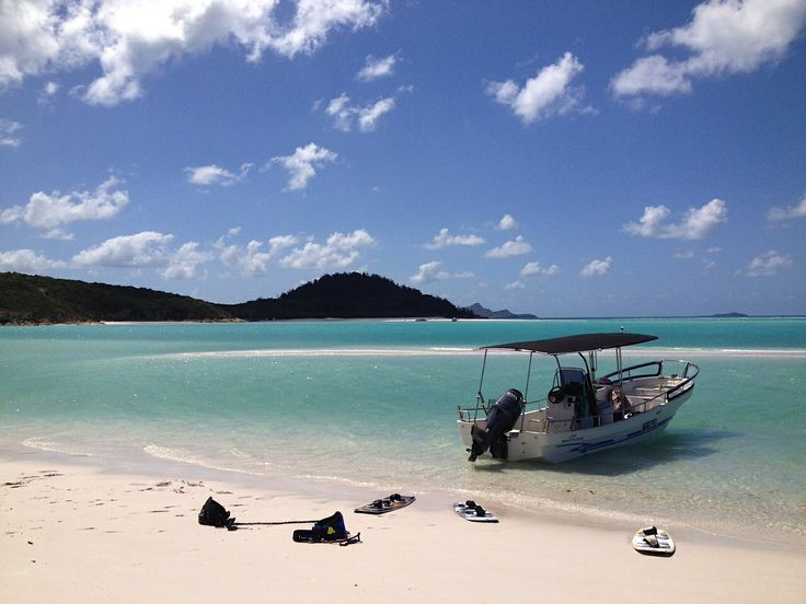 Whitehaven Beach. Kite boarding trip. Possibly one of Australia's most lovely beaches.