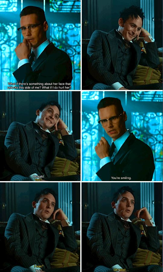 """You're smiling"" - Ed and Oswald #Gotham"