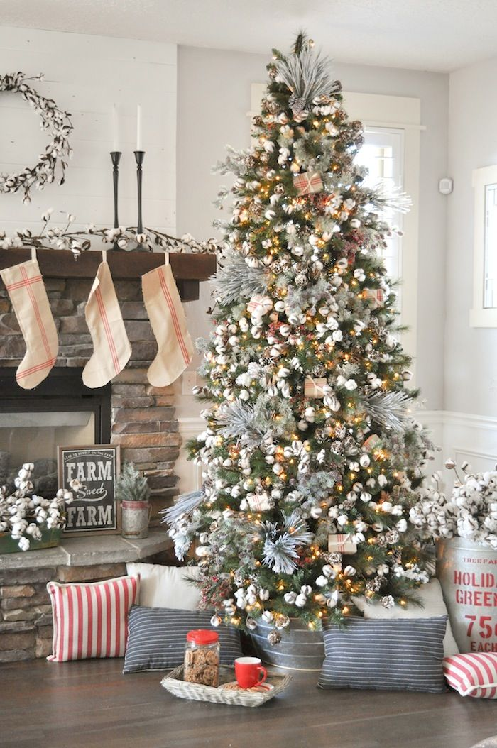 Farmhouse Christmas Tree Michaels Dream Tree Challenge 2017 Kara S Party Ideas Modern Christmas Tree Christmas Tree Design Christmas Decorations