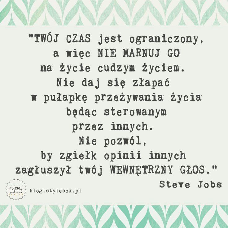 inspiracje - motywacje od StyleBoxPL, #inspirationalquote, #cytat, #quote, #stevejobs